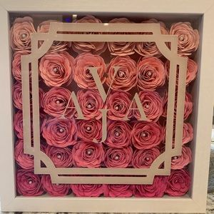 Other - Custom made flower monogram shadow boxes
